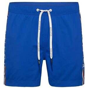 Tommy Hilfiger Men s Logo Leg Swim Shorts with Pockets + TH Logo ... c8f41c451d1