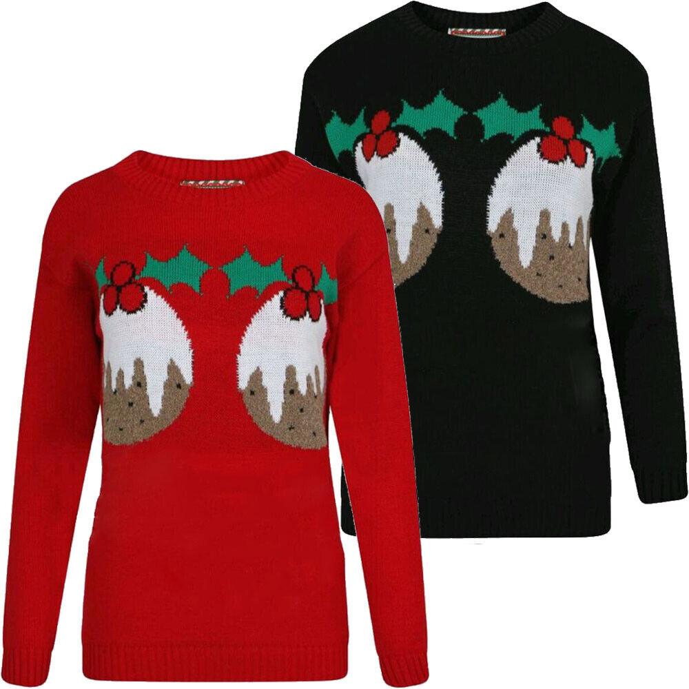 Unisex Women/'s Ladies Christmas Jumper Knitted Vintage Xmas Novelty Men Sweater