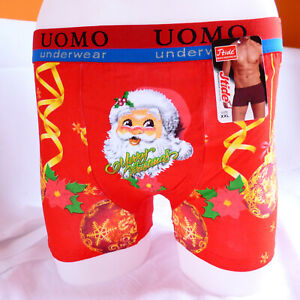 Funny-Xmas-Christmas-Gift-Him-Santa-Cotton-Mens-Boxer-Shorts-Trunks-L-XL-2XL-3XL