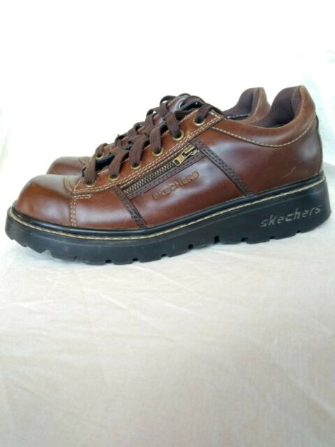 Vtg 90s Skechers Leather Chunky