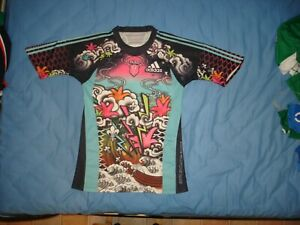 Stade Francais Paris Adidas remplaçant 3RD shirt 2009/10 Maillot tatoo Rugby Rose