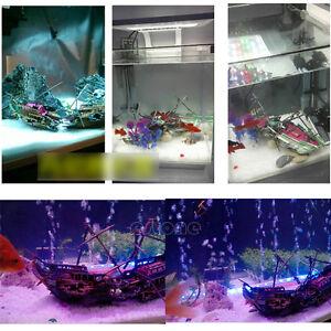 Aquarium ornament wreck boat sunk ship air split shipwreck for Split fish tank