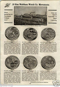 1913-PAPER-AD-5-PG-Waltham-Factory-View-18-16-Size-Vanguard-Riverside-Maximus