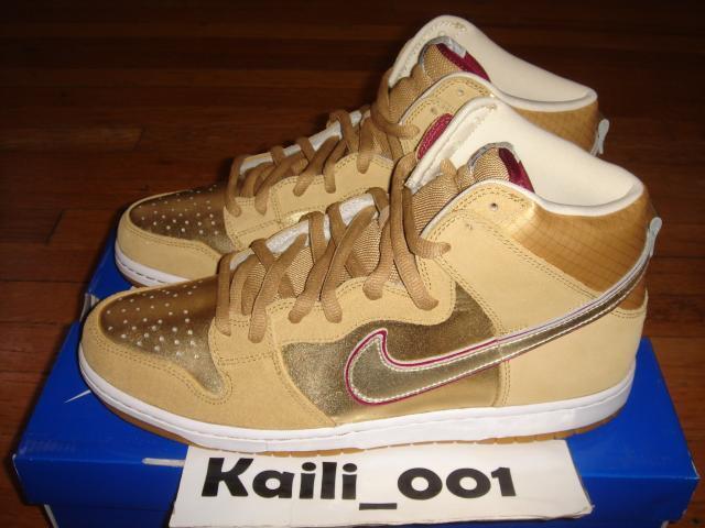 Nike Dunk High Premium SB Size 11.5 Koston Thai Temple Gold 313171-702 B