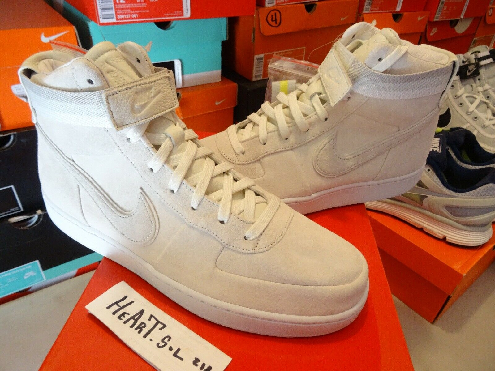 Nike x John Elliot Vandal High PRM  Sail  size 11.5 - AH7171-101 Lebron Icon Air