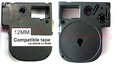 New Compatible K-Sun Epson White on Black Tape Label LC-4BWV9 LW-500 LW-700