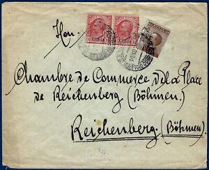Lettera-per-la-Boemia-con-affrancatura-multipla-di-Libia