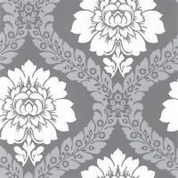 Tu27124 - Shades Damask Grey Silver Galerie Wallpaper