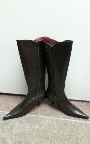 marron longues cuir en Bottes cuir Bottes en longues 0qHF15nzWH