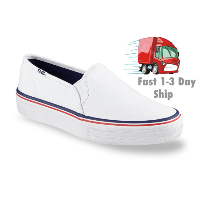 4f6d50156 White Keds Champion Double Decker Women s Sneakers Canvas shoes slip on  WF52572