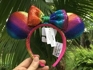 Image is loading Disney-Parks-Gay-Days-Pride-Minnie-Mouse-Sequin- cd881cafb1d87