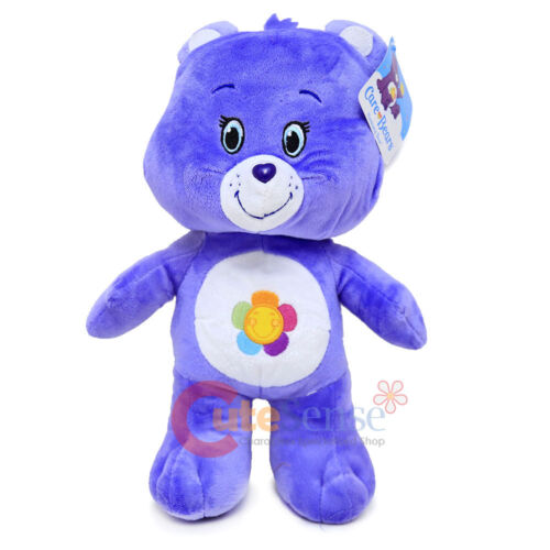 "Care Bears Harmony Bear Large Plush Doll 13/"" Purple Bear Soft Stuffed Toy"