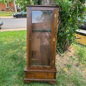 Antique-Wood-Gun-Cabinet