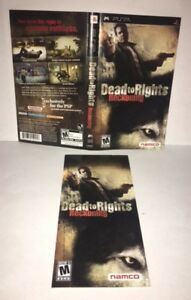 dead to rights reckoning psp original replacement artwork manual rh ebay com Sony PSP 3001 Manual Sony PSP Manual English