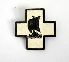 German U-Boat 13th flotilla cap hat pin Badge Kriegsmarine WW2 Abzeichen AGED