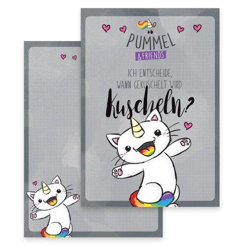 kuscheln Purricorn Schreibblock A4 Pummel /& Friends