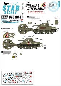 Star-Decals-1-35-US-Special-Sherman-Aunt-Jemima-mine-exploder-tanks-35c1049