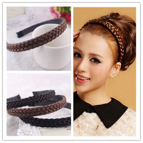 Mädchen Damen Haarreif geflochten Zopf Haarband Haarschmuck Haarreifen Braided