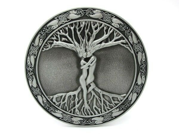 New Tree Of Life Hippy Gypsy Witch Nature Love Round Belt Buckle Bohemian Metal