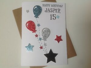 Image Is Loading Handmade Personalised Birthday Card Teenager 13th 14th 15th