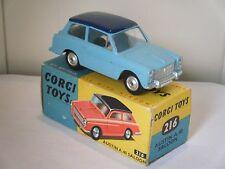"""CORGI NO: 216 """"Austin a40 Saloon"""" - Light Blue (in scatola/originale anni 1960/Filato HUB)"""