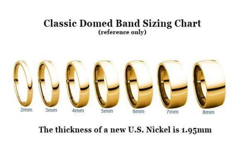 Men/'s Wedding Band 10K Yellow Gold Plain Domed 5mm Wide Comfort Fit Edge Sz 8-13