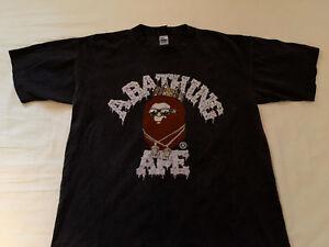 3b2ab244e La foto se está cargando Bape-a-Bathing-Ape-X-Flatbush-zombies-Camiseta-