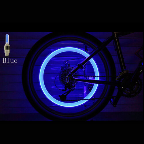 2 x LED Lamp Flash Tyre Wheel Valve Cap Light For Car Bike Bicycle Motorcycle