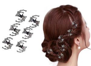 Set-6-Haarklemmen-Schmetterling-Haarklammer-Haarclips-Mini-Haarkrebs-Kommunion