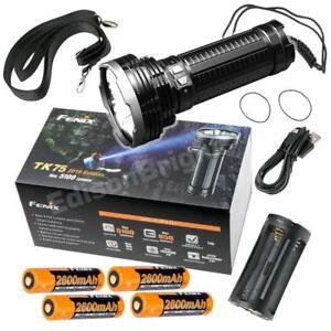 Fenix TK75 5100 Lumens  2018 Ed. USB rechargeable LED Flashlight w/ batteries