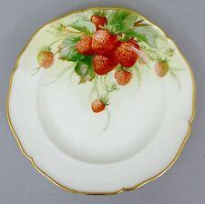 (K050) KPM Berlin Obst- Teller, Früchte-Motiv, Erdbeeren, Durchmesser 21 cm