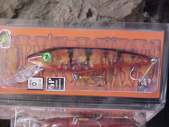 """Deadly Naked Red Perch Musky Mania 6/"""" JAKE for Big Gamefish Musky//Pike"""