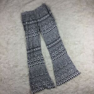 Raga Womens Size Medium Flare Leg 100% Viscose Festival Pants HIppie BOHO. QT