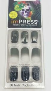 KISS* imPRESS Press-On FANTASY 30 Nails+Accent HALLOWEEN ...