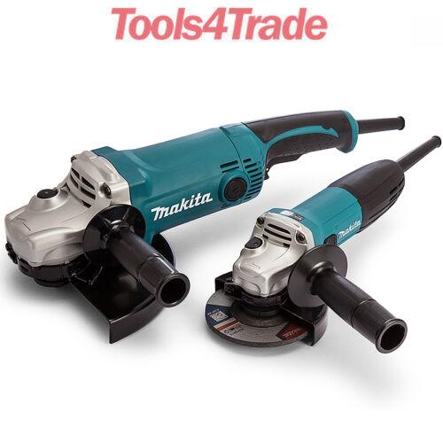 "Makita GA9050 9""//230mm /& GA4530 4.5""//115mm Angle Grinder Twin Pack DK0056 110V"
