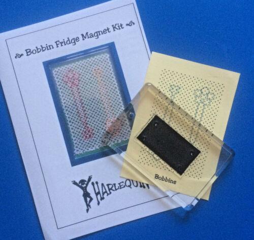 3 nuevos diseños de Arlequín Kits rápida de encaje. Kit de imán de Frigorífico de encaje de bolillos