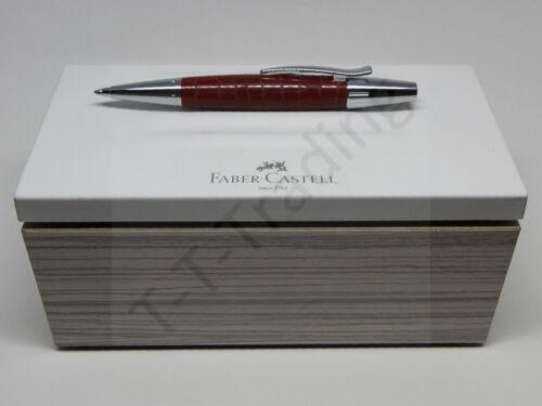 25/% NEU! Faber Castell e-motion Drehkugelschreiber Edelharz Kroko Hibiskusrot