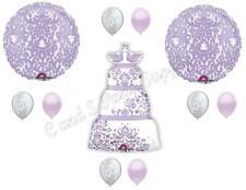 WEDDING CAKE Bridal Shower Balloons Decoration Supplies Engagement lavender