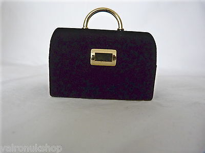 CUTE BLACK BAG NOVELTY RING / EARRING GIFT BOX - NEW