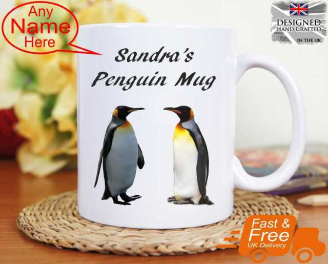 Personalised PENGUIN Mug Cup Birthday Gift Idea Present Gift Personalized Gift