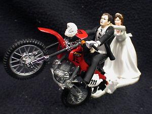 Off Road Dirt Bike Motorcycle wedding Cake topper Red Honda Racing ...