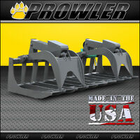 78 Inch Heavy Duty Root Grapple Attachment For Skid Steer Loaders - 78