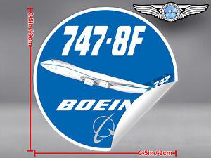 BOEING-747-8F-B747-8F-ROUND-DECAL-STICKER-3-5-x-3-5-in-9-x-9-cm