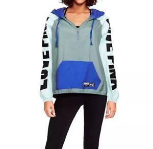 Nwt Secret Bleu Coupe Colorblock Bleu L Blouson M Anorak Victoria's Vent RqYSvvd