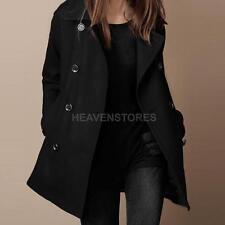 Oberbekleidung Dame Winter Warm zweireiher Mantel Langjacke Pullover Schwarz S
