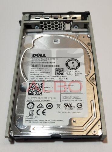 "Dell 0FVX7C 2TB SAS HD 2.5/"" 12Gbps 7.2K RPM MODEL ST2000NX0433 FVX7C NTPP3"