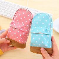 Cool Mini Students Canvas Schoolbag Pencil Case Children Pen Purses Bags Lovely