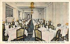 c1920 Table d'Hote Dining Room, Hotel Bristol, New York City, NY Postcard