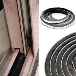 Türbodendichtung Dichtungsbürste 5M 9mm x 15mm selbstklebend Tür Fenster Weiß