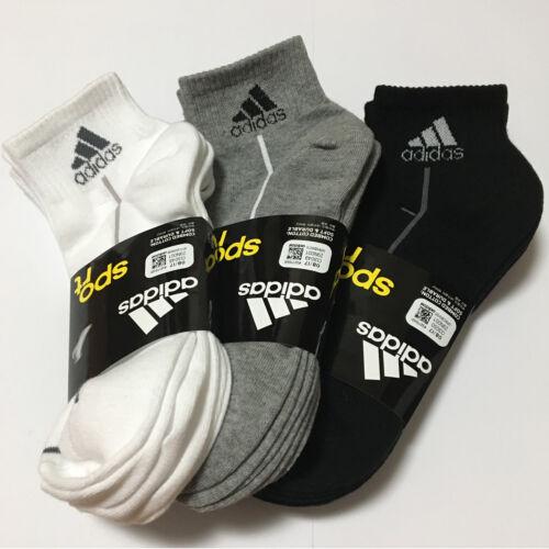 ADIDAS KOREA Men's Sport Casual Socks 3Pairs White Gray Black Cotton Fashion
